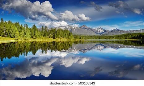 Beautiful lake in Altai mountains
