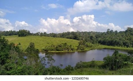 beautiful lake at area of Kao Yak national park, Thailand
