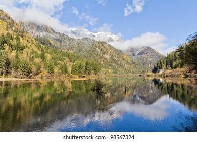 A beautiful lake in autumn