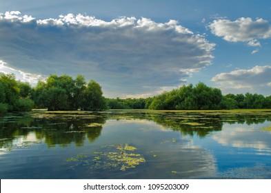 a beautiful lake in Danube Delta, Romania