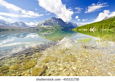 A beautiful lake at glacier national park