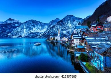 beautiful lake at Hallstatt ,Austria