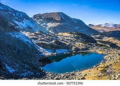 Beautiful Lake High In The Mountain