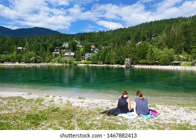 Beautiful Lake Jasna, Kranjska Gora, Slovenian Alps, Slovenia, Europe