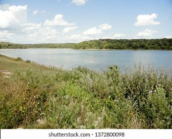 Beautiful Lake Landscape at Thousand Hills State Park