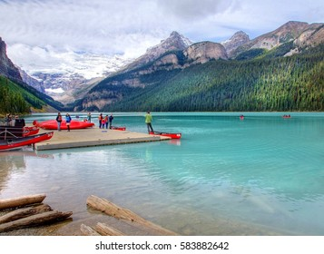 beautiful lake Louise , National park Banff , Canada
