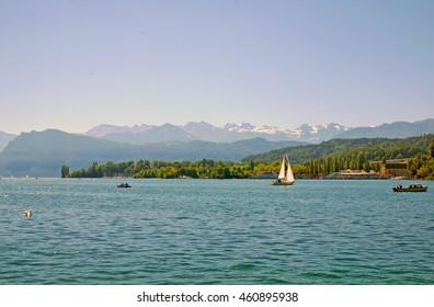 Beautiful Lake Lucerne, Switzerland