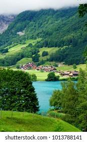 Beautiful Lake Lungern Bernese Oberland Swiss