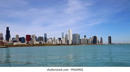 Beautiful Lake Michigan and the Chicago Skyline