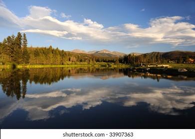 Beautiful Lake And Mountains Near Winter Park, Colorado