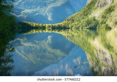 The beautiful lake Obersee.
