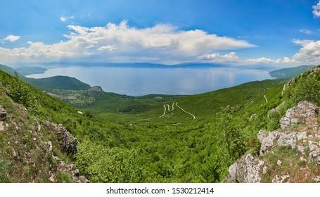 Beautiful Lake Ohrid in Macedonia