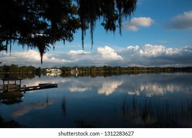 Beautiful lake at Park