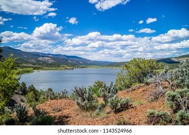 A beautiful lake park in Cortez, Colorado