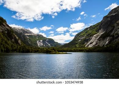Beautiful lake in Patagonia