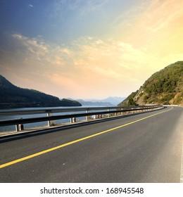 Beautiful lake road