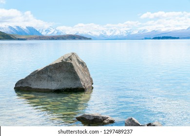 Beautiful Lake Tekapo in South Island New Zealand