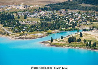 Beautiful Lake Tekapo view from the summit of Mount John