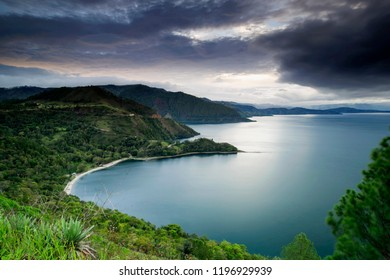 beautiful lake toba,,north sumatra indonesia