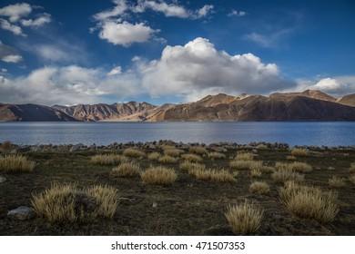 Beautiful lake view landscape, Pangong Lake, Ladakh, India