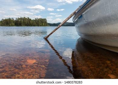 Beautiful lake view at safssjon lake region Dalarna Sweden nearby Fredriksberg