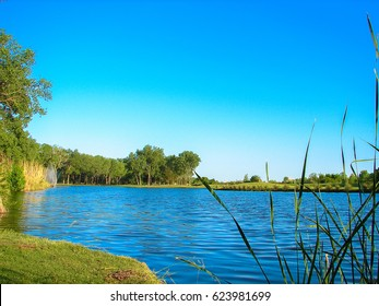 A beautiful lake view at The Trails Golf Club of Norman, Oklahoma