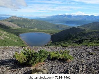 Beautiful lakes and mountains of Siberia, Russia