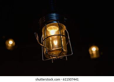 Beautiful lamp decorated at night.