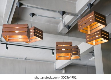 beautiful lamps on ceiling