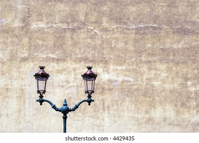 Beautiful Lamps and Vintage Wall