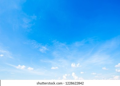 beautiful land air atmosphere bright blue sky background abstract clear texture with white cloud.