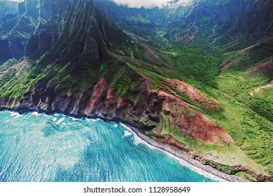 Beautiful land, sea and aerial views of Kauai's Na Pali Coast and other island vistas of this garden paradise.