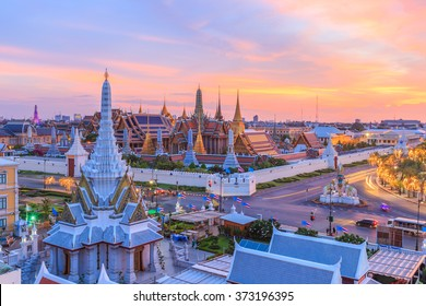 Beautiful landmark of Bangkok City, Temple of the Emerald Buddha, Bangkok, Thailand.