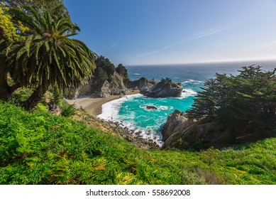 Beautiful landsape of McWay Fall in Big Sur California. Landscape Photography
