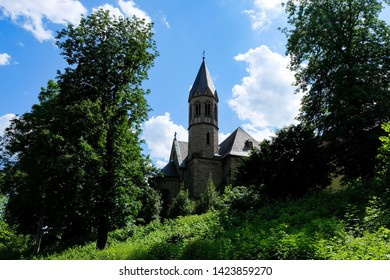 Beautiful landscape of the Abbey Saarn, Germany
