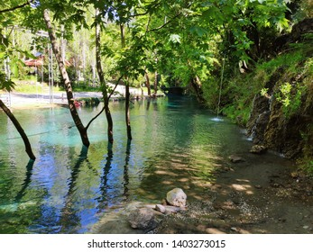 Beautiful Landscape of Akyaka (Yuvarlakcay) in Mugla,Turkey