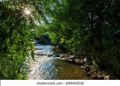 Beautiful landscape along Boulder Creek, Colorado
