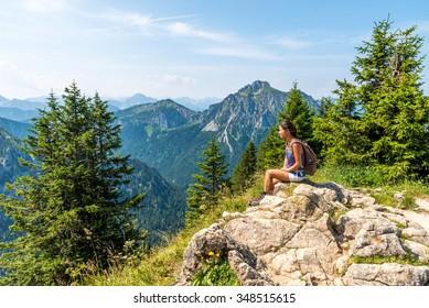 Beautiful Landscape in  Alps of Germany, Tegelberg