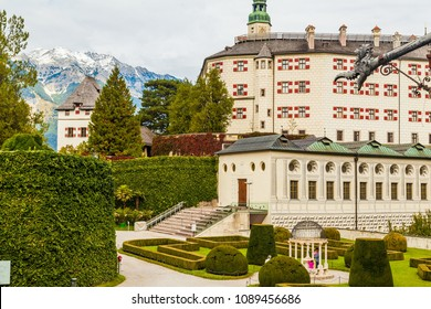 Beautiful landscape of ambras palace from innsbruck at austria.