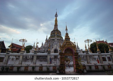 Beautiful landscape of ancient  temple in wat saen fang Temple, Chiang mai,Thailand