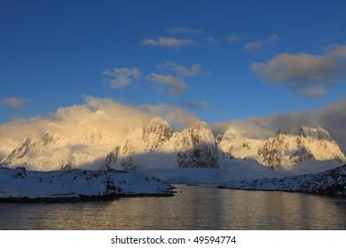 Beautiful landscape in Antarctica, very remote.