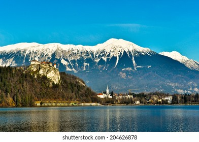 Beautiful Landscape around Lake Bled in Slovenia