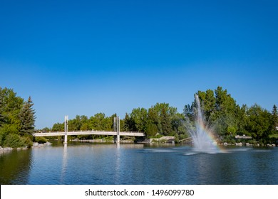 Beautiful landscape around Prince's Island Park at Calgary, Canada