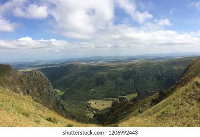 Beautiful landscape in Auvergne, France