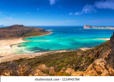 Beautiful landscape of Balos beach on Crete, Greece