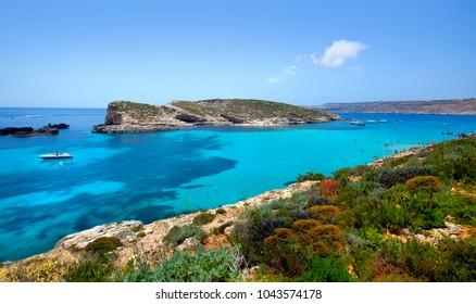Beautiful landscape of Blue Lagoon of Malta
