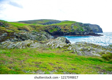 Beautiful landscape of Calf Sound in the Isle of Man, a very famous viewpoint in the island