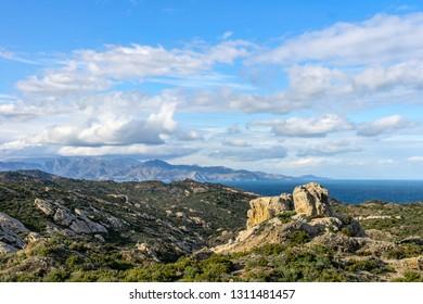 Beautiful landscape  of Cap de Creus Natural Park. Cap de Creus is the easternmost point of Catalonia, mainland Spain and the Iberian Peninsula.