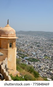 beautiful landscape of the city of Jaipur in India a view from a fort