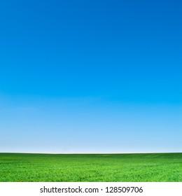 beautiful landscape, clean blue sky